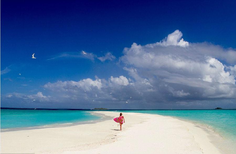 马尔代夫的海水