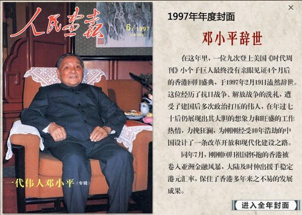 邓小平逝世