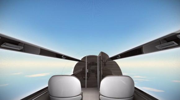 飞机是透明的